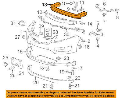 Chevrolet GM OEM 11-15 Volt Front Bumper-Impact Reinforcement Bar Rebar 20860494