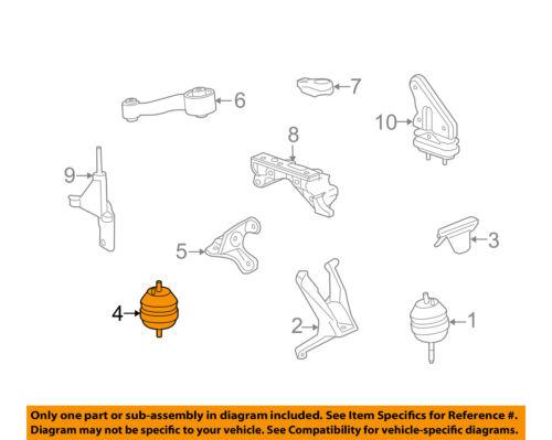 buick gm oem 09 11 lucerne engine motor mount torque strut 20877776 Full Body Mount Skinning Diagram 4 on diagram only genuine oe factory original item