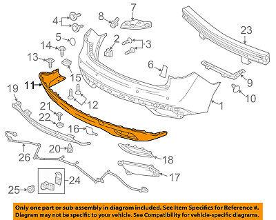 Acura HONDA OEM 14-16 MDX Rear Bumper-Lower Cover 71510TZ5A00