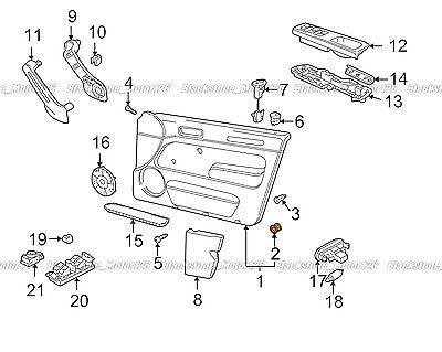 10 Door Trim Panel Retainer Clip 3B0-868-243 For VW Jetta