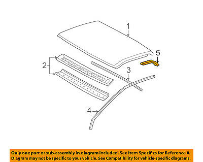 GM OEM Roof-Molding Trim 15045551