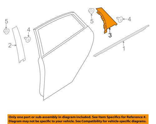 FORD OEM 11-18 Fiesta Exterior-Rear-Applique Window Trim Left FE8Z5800014B