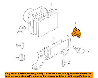 PORSCHE OEM ABS Anti-Lock Brake System-Lateral Acceleration Sensor 99760614508