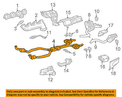 MERCEDES OEM 03-08 SL55 AMG 5.5L-V8-Catalytic Converter 2304901519