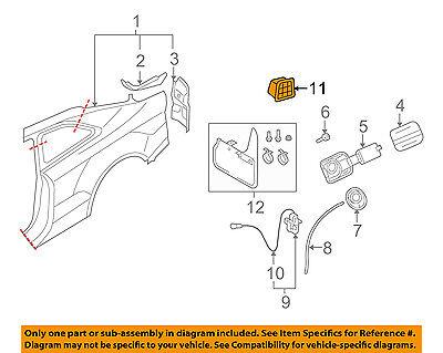 AUDI OEM 09-17 Q5 Quarter Panel-Vent 8K0819161C