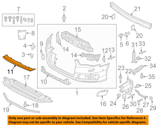 AUDI OEM 2017 A6 Quattro Front Bumper Grille Grill-Cover Molding 4G080