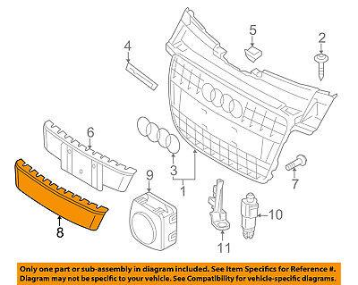 AUDI OEM 09-12 A4 Quattro Front Bumper Grille Grill-License Molding 8K08072871QP