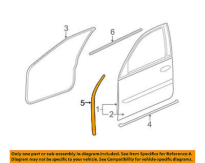 Cadillac GM OEM STS Front Door-Front Weatherstrip Weather Strip Seal 25816797