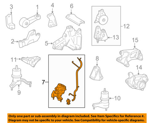 toyota oem 09 15 venza engine motor mount torque strut 123600p030 ebay Boxster Engine Diagram seller \u0026 payment information