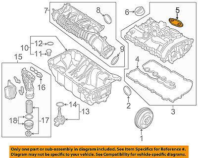 BMW OEM 16-18 X1 2.0L-L4 Engine Parts-Valve Cover Gasket 11128618520