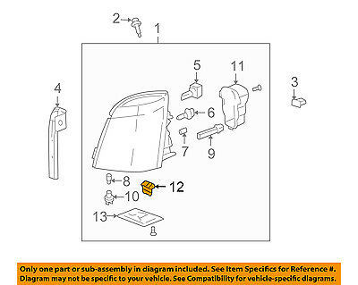 Cadillac GM OEM 04-09 SRX Headlight Head Light Lamp-Module 89024736