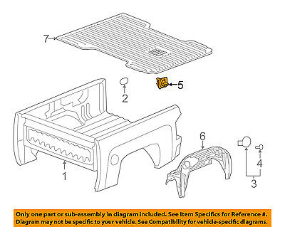 GM OEM Pick Up Box Bed-Hook 23146899