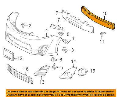 TOYOTA OEM 2014 Camry Front Bumper-Impact Reinforcement Bar Rebar 5202106140