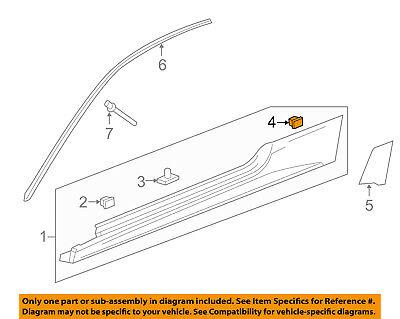 Cadillac GM OEM 11-15 CTS Exterior-Rocker Molding Retainer 15864780