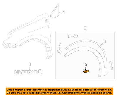 13 14 TOYOTA RAV-4 RAV4 LEFT FENDER FLARE WHEEL OPENING ARCH 75606-0R030 OEM 187