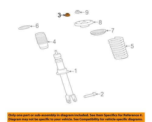 Details about JAGUAR OEM 10-15 XJ Front Suspension-Top Nut XR826831