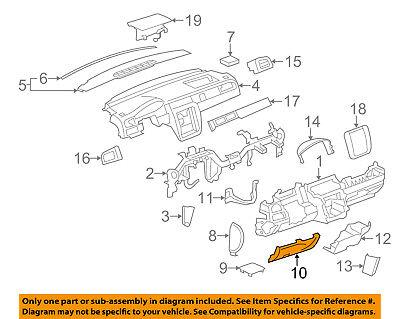 GM OEM Instrument Panel Dash-Knee Bolster 15856685