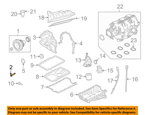 [DIAGRAM_0HG]  FORD OEM 05-07 Mustang 4.0L-V6 Engine Crankshaft-Pulley Bolt E7RY6A340B |  eBay | Ford Mustang Engine Diagram |  | eBay