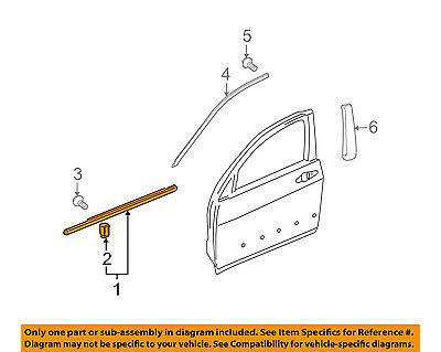 Acura HONDA OEM TL-Door Window Sweep-Belt Molding Weatherstrip Left 72450TK4A02