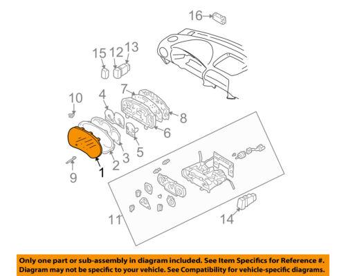subaru oem 04 07 impreza dash gauge speedometer cluster lens rh ebay com