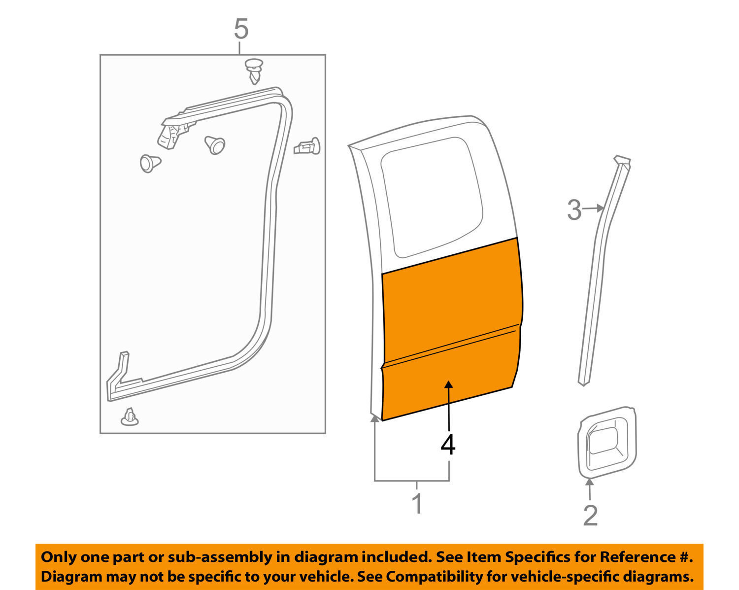 Used toyota tacoma exterior parts for sale page 10 toyota oem 2005 2016 tacoma door skin outer panel left 6711404031 pooptronica