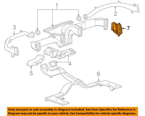 GM OEM Instrument Panel Dash-Air Deflector 20935614