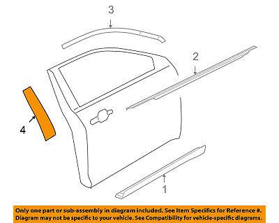 FORD OEM 11-18 Taurus Front Door-Applique Window Trim Left CG1Z5420555CB