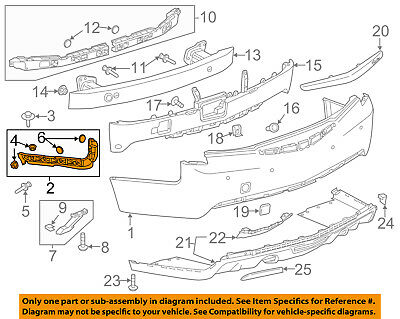 Cadillac GM OEM 13-18 ATS Rear Bumper-Side Retainer Bracket Right 84267636
