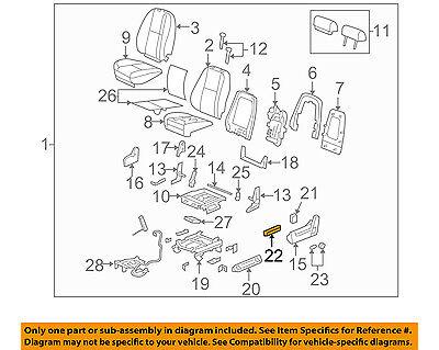 GM OEM Power Seat-Switch 12451497