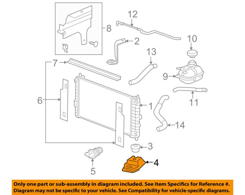 GM OEM Radiator Core Support-Lower Baffle 25755381