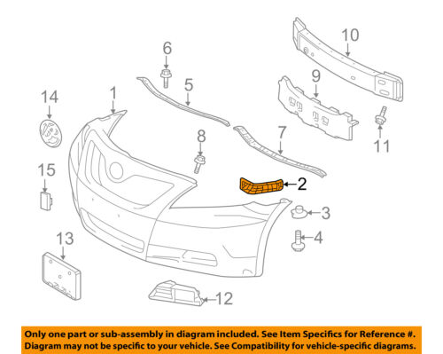 Passengers Front Bumper Side Cover Support Bracket Retainer Replacement for 07-11 Toyota Camry 5253506030
