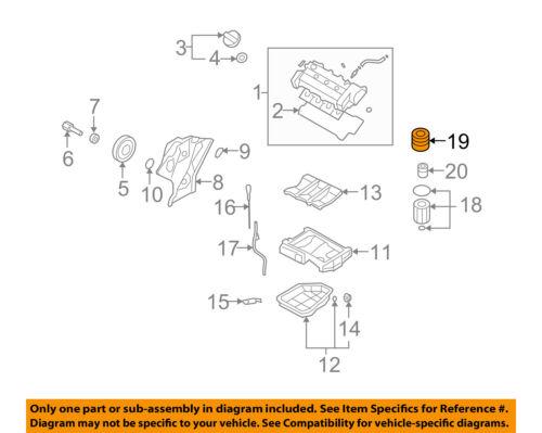 Hyundai Oem 06 09 Sonata 3 3l V6 Engine Filter Cover 263513c100 Ebay