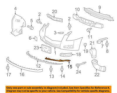 Cadillac GM OEM 10-14 CTS-Bumper Trim-Filler Molding Right 20823994
