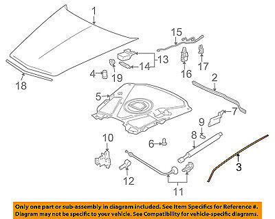Cadillac GM OEM 04-09 XLR Hood-Side Weatherstrip Seal Right 10317910