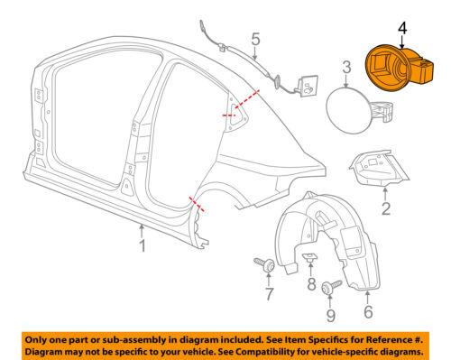 2013-2014 Dodge Dart OEM Fuel Filler Housing 68090635AJ