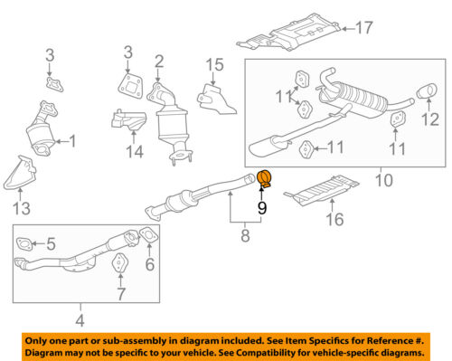 GM OEM Exhaust-Converter /& Pipe Clamp 11611439