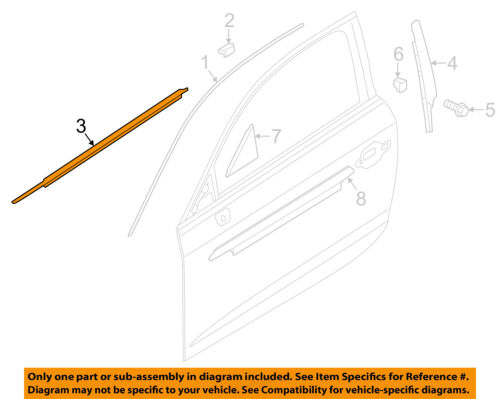 1987-1997 Ford F250 F350 Rear Passenger Door Window Weatherstrip Belt Seal OEM
