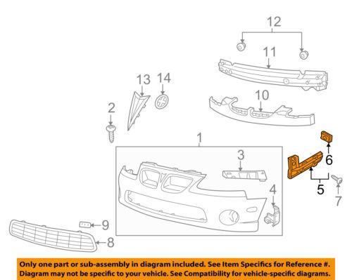 Pontiac GM OEM 04-06 GTO Front Bumper-Guide Bracket Right 92177409