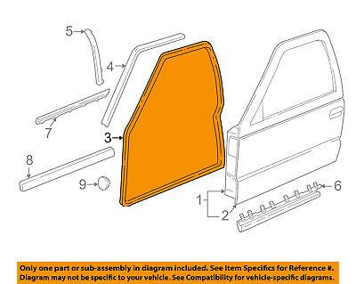 GM OEM Front Door-Weatherstrip Seal 15100041