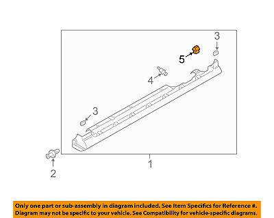 MAZDA OEM 09-11 RX-8 Exterior-Rocker Molding Fastener G22C51SJ3