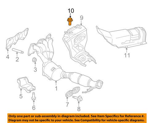 *4 PCS* FORD OEM Exhaust Manifold-Heat Shield Bolt W703715S437