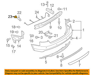 AUDI OEM A6 Quattro Front Bumper Grille Grill-Park Sensor Seal 1T0919133C704