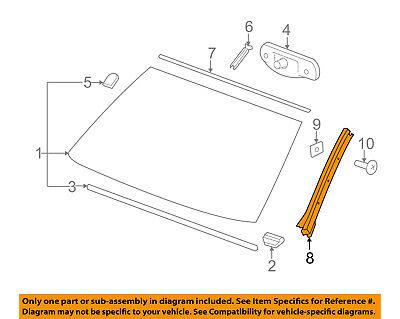 GM OEM Windshield-Side Molding Right 20918021