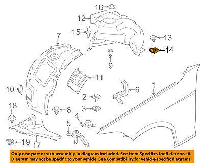 BMW OEM 11-17 X3 Front Bumper Grille-Bumper Cover Clip 51717065773