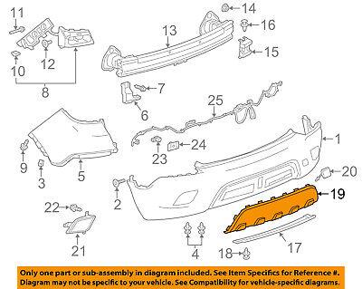 Buick GM OEM 13-16 Encore Rear Bumper-Skid Plate 25980563