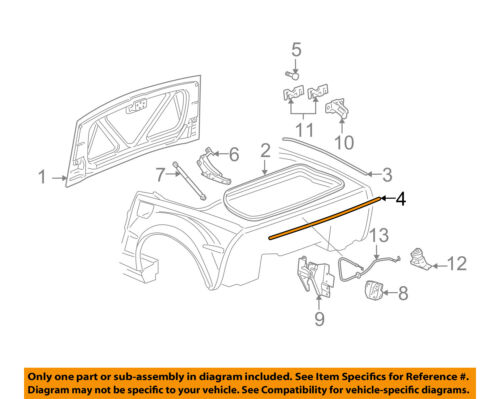 Chevrolet Gm Oem 05 13 Corvette Trunk Lid Rear Seal 15881440 Ebay