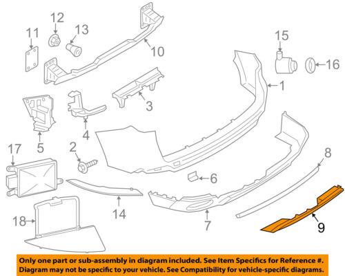 BMW OEM 14-18 X5 Rear Bumper-Lower Shield 51127294756