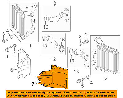 AUDI OEM 11-15 Q7 3.0L-V6 Intercooler-Air Intake Duct Hose Tube Left 4L0117335F
