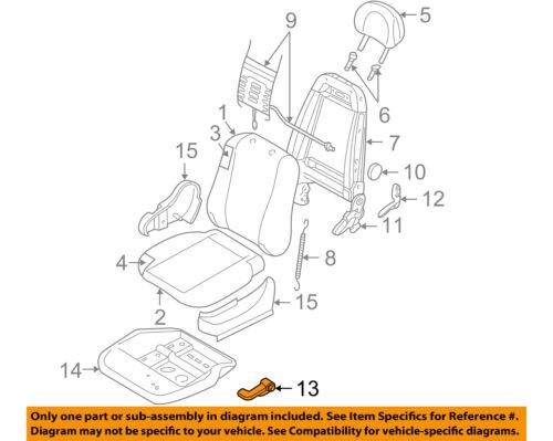 Right Inner Genuine Hyundai 88021-2H000-4W Seat Cover