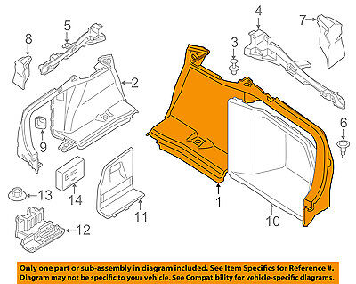 BMW OEM 15-16 428i xDrive Gran Coupe Interior-Rear-Front Trim Right 51477337210